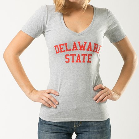 Delaware State University, 2XL, NCCAA, Game Day Womens Tee T-shirt, W Republic, Heather