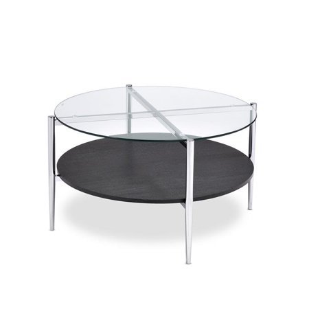Bayliss Clear Tempered Glass Modern Cocktail Table - image 1 of 3