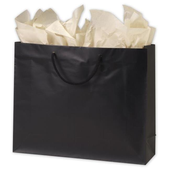 Bags & Bows by Deluxe 244M-160513-12M Black Matte Laminated Euro-Shoppers - Case of 100