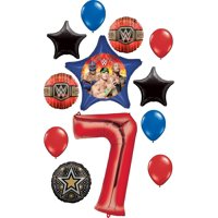 WWE Party Supplies 7th Birthday Balloon Bouquet Decorations