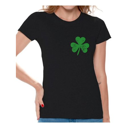 Pride Parade Outfits (Awkward Styles Womens St. Patricks Day Shirt Irish Clover Pocket Shirt Irish Pride Gifts for Her St Patricks Day Tee Irish St Paddy's Day Outfit Lucky Shamrock Shirts for Women)