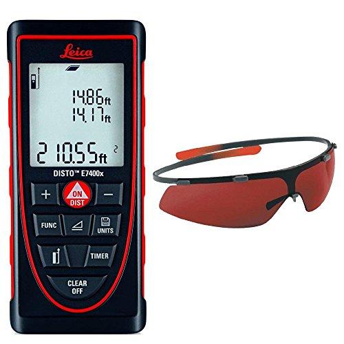 Leica DISTO E7400x Handheld Laser Distance Meter + GLB30 Laser Glasses