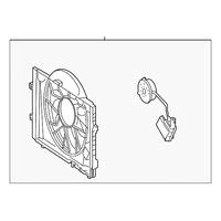 Genuine OE Mercedes-Benz Engine Cooling Fan Motor 203-500-10-93