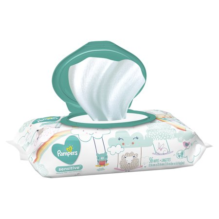 Pampers Baby Wipes, Sensitive, 1X Pop-Top, 56 Count