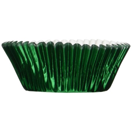 Fox Run 48 Green Foil Mini Bake Muffin Cups Cupcake Liners Birthday Holiday New (Holiday Cupcake Ideas)