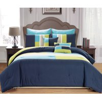 Desiree 7 Piece King Comforter Set in Blue