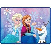 "Disney's Frozen 40"" x 56"" Winter Snow Kids Accent Rug"