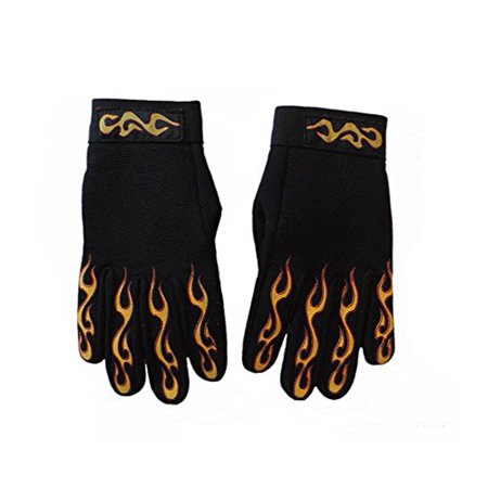 Motorcycle Mechanic Flame Riding Gloves XL
