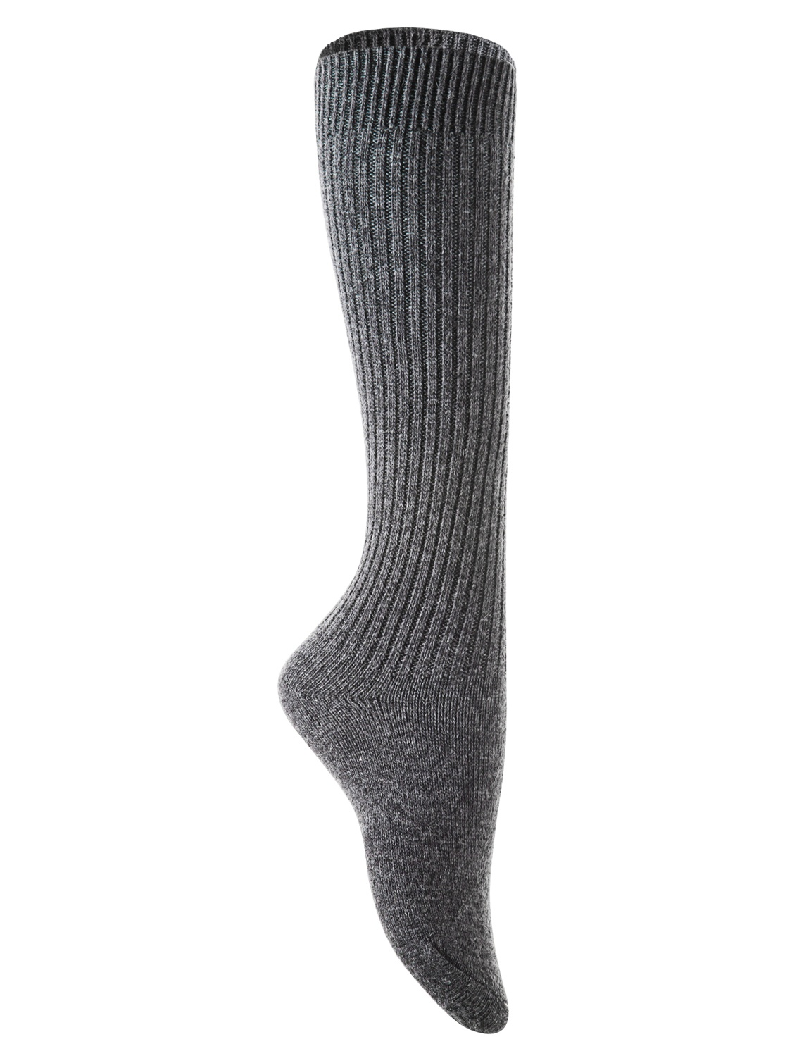 Lian Style Big Girl's 2 Pairs Knee-high Knitted Wool Socks stripped FS05 Size XL(Random Color)