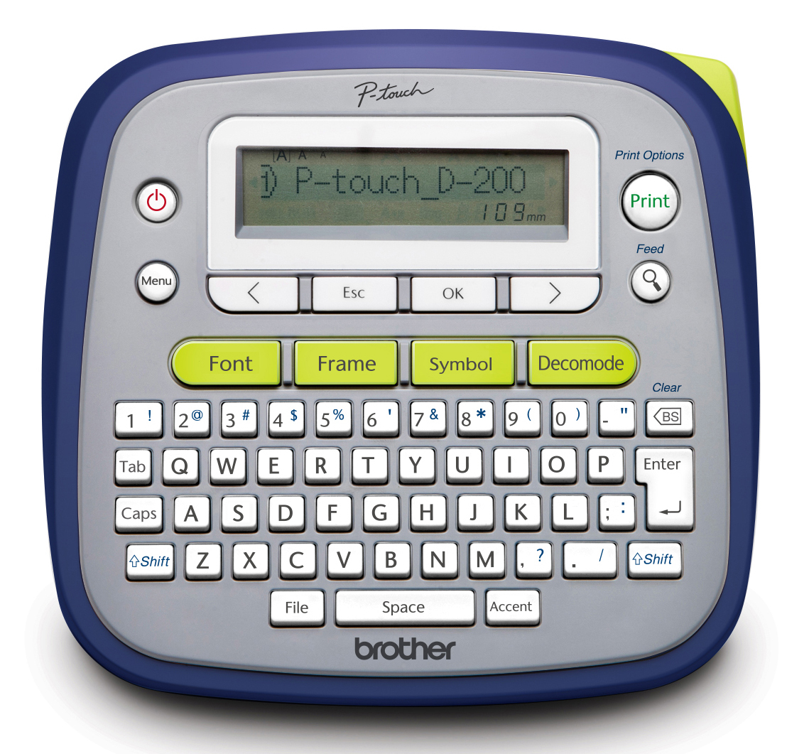 brother p touch label maker pt d200g easy to use p touch label maker walmart 28719