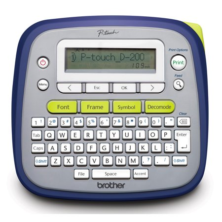 pt-d200g easy to use brother p-touch label maker - walmart