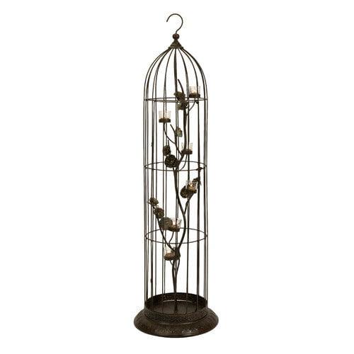 Home Decor Improvements 74079 Jordan Birdcage with Votive Holders