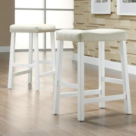 Weston Home Scottsdale Saddle Counter Stool White Set Of 2