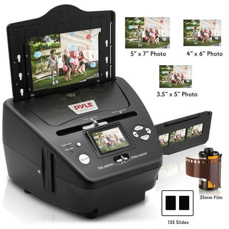 PYLE PSCNPHO53.5 - 3-in-1 Photo, Slide and Film Scanner - Digital Media Converter Copier for Pictures, Negatives &