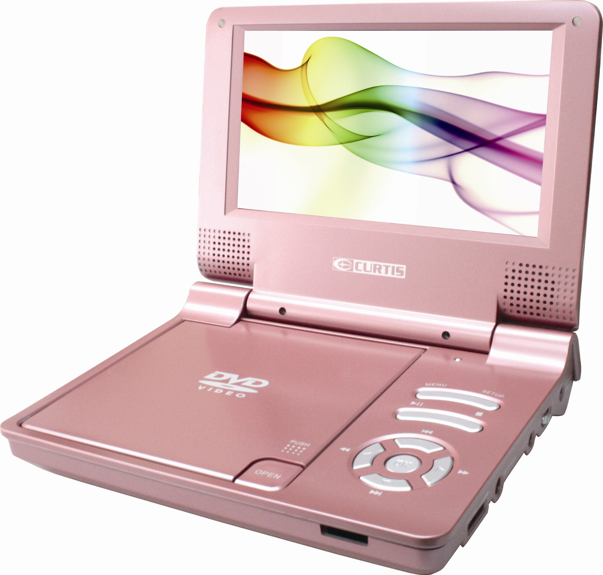 "CURTIS DVD7014, 7"" Portable DVD Player (Pink)"