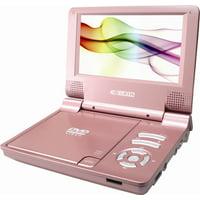 "CURTIS DVD7014, 7"" Portable DVD Player (Pink)"
