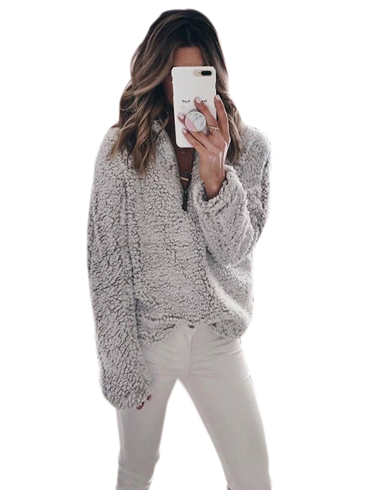 LIYT Womens Faux Fure Coat Winter Warm Jacket Cardigan Outerwear Tops