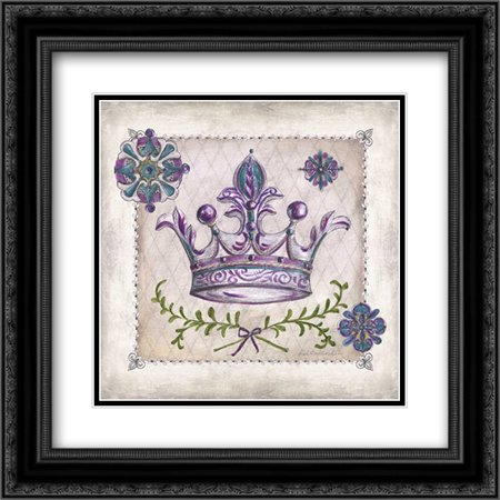 Royal Crown II 2x Matted 20x20 Black Ornate Framed Art Print by McRostie, Kate