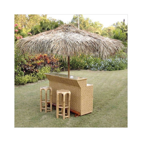 EuroSheds Palm Leaf Thatch Patio Umbrella