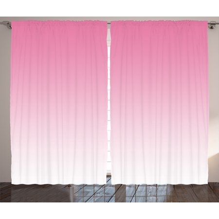 Ombre Curtains 2 Panels Set, Dreamy Light Pink Waterfall Inspired Modern Digital Print Girls Room Decorations, Window Drapes for Living Room Bedroom, 108W X 90L Inches, Light Pink, by - Decoration Curtains