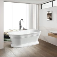 Vanity Art 59'' x 30'' Freestanding Soaking Bathtub