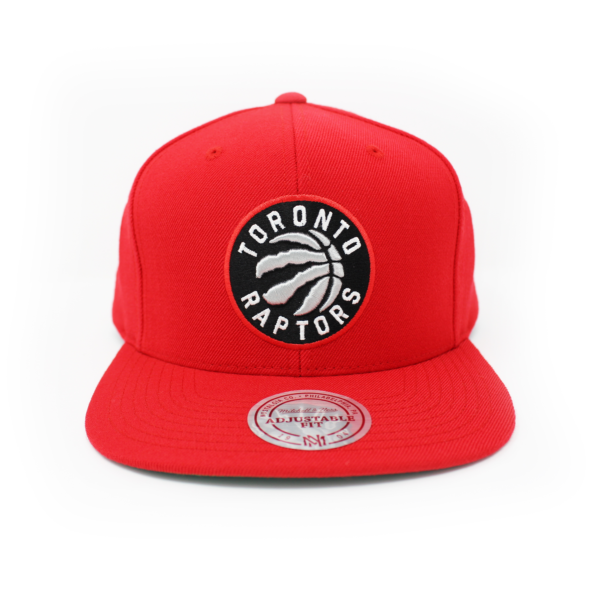 Mitchell and Ness Toronto Raptors Wool Solid Red Snapback Hat