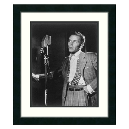 Golden Age of Jazz, Frank Sinatra Framed Wall Art by William P. Gottlieb - 23.12W x 27.12H in.