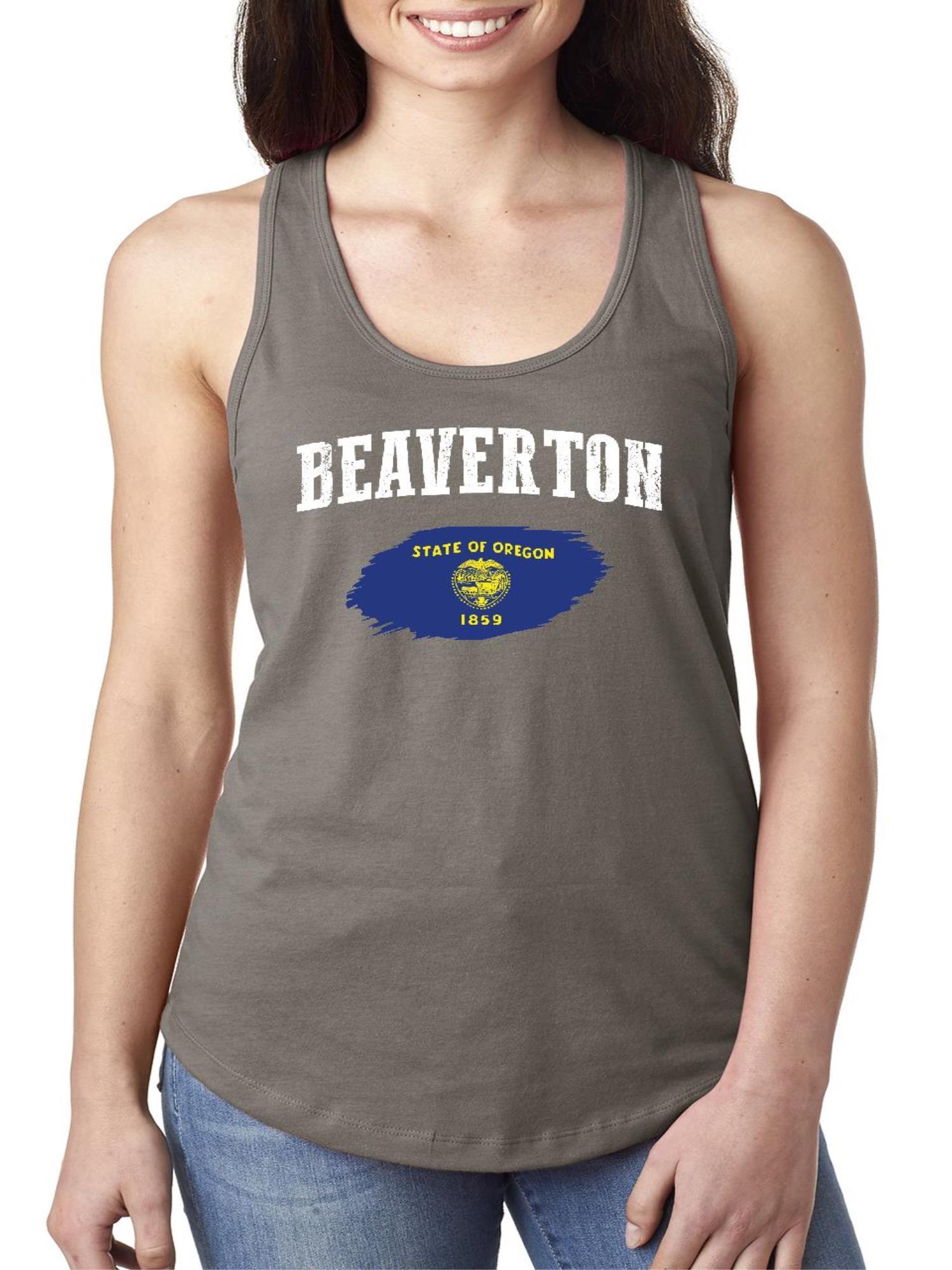 beaverton oregon women tops next level racerback tank top - walmart