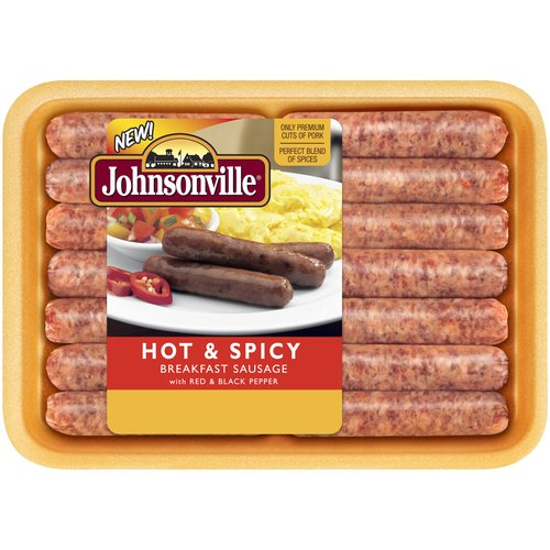 Johnsonville Hot & Spicy Breakfast Sausage Links, 14 count