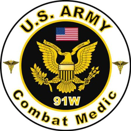 United States Army MOS 91W Combat Medic Decal Sticker 38
