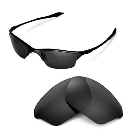 Walleva Black Polarized Replacement Lenses for Oakley Half Wire XL Sunglasses