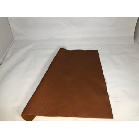 12'' x 12'' Cognac Cowhide: Soft Natural Pebble Grain Leather 2.5-3 oz. Perfect for Handbags, Shoes, Garments, and Leather Crafts! …