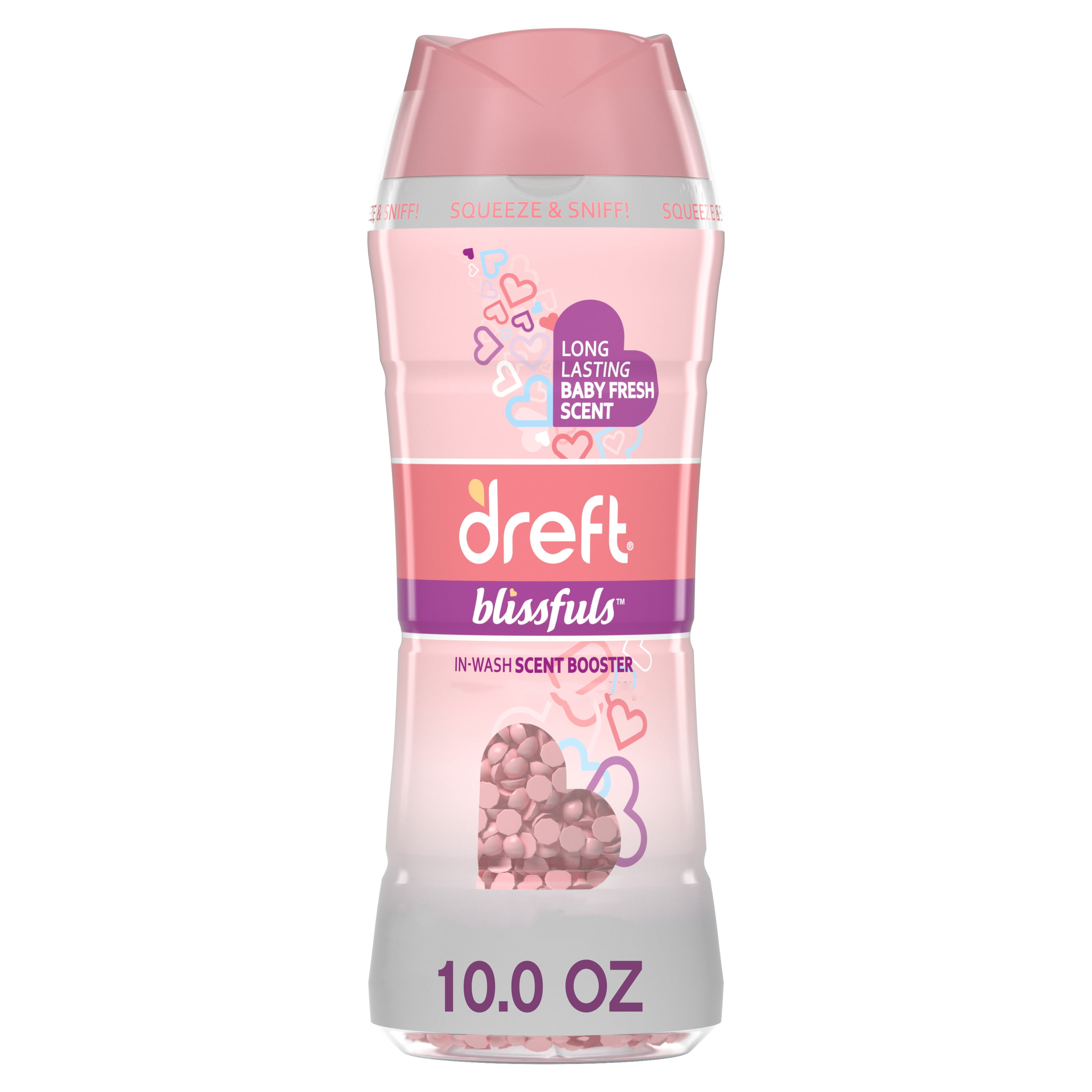Dreft Blissfuls In-Wash Scent Booster Beads, Baby Fresh, 10 oz