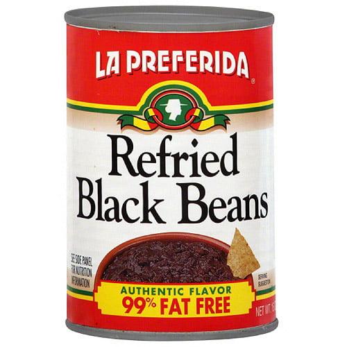 La Preferida Refried Black Beans, 16 oz (Pack of 12)