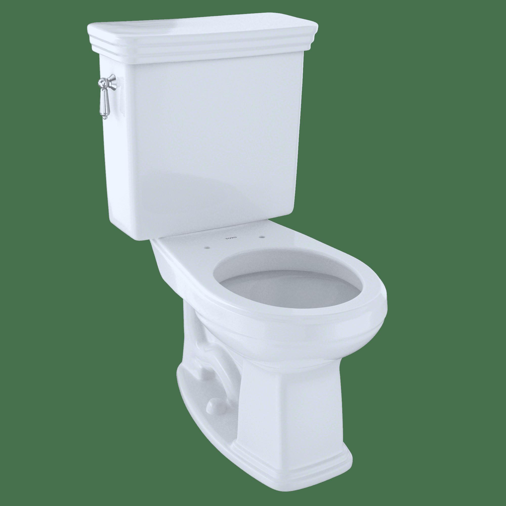 TOTO® Promenade® Two-Piece Round 1.6 GPF Universal Height Toilet, Cotton White - CST423SF#01