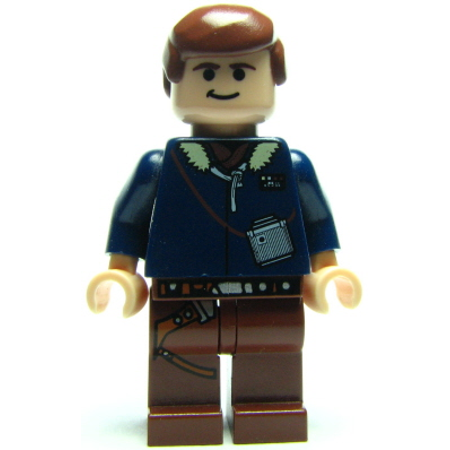 LEGO Star Wars Han Solo, Reddish Brown Legs with Holster Pattern (Light Flesh) (6212) Minifigure - Leg Wars