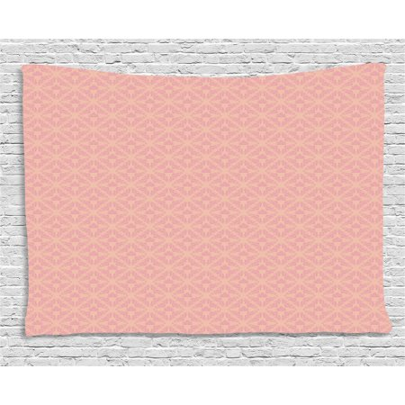 Wedding Color Palettes (Peach Tapestry, Abstract Background with Soft Color Palette and a Cute Banner Wedding Inspirations, Wall Hanging for Bedroom Living Room Dorm Decor, 80W X 60L Inches, Peach Pink, by)