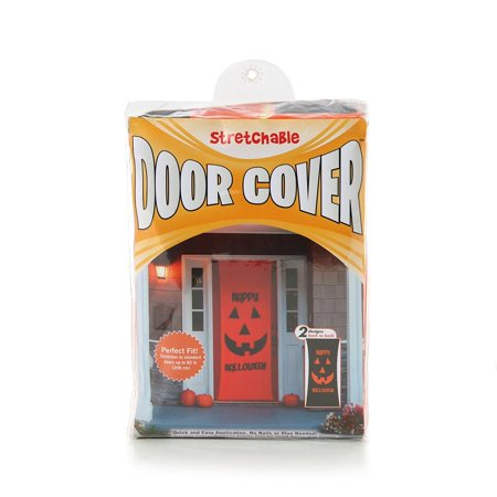 Double-Sided Decorative Halloween Theme Stretchable Door Cover By Kittrich Corporation Ship from US