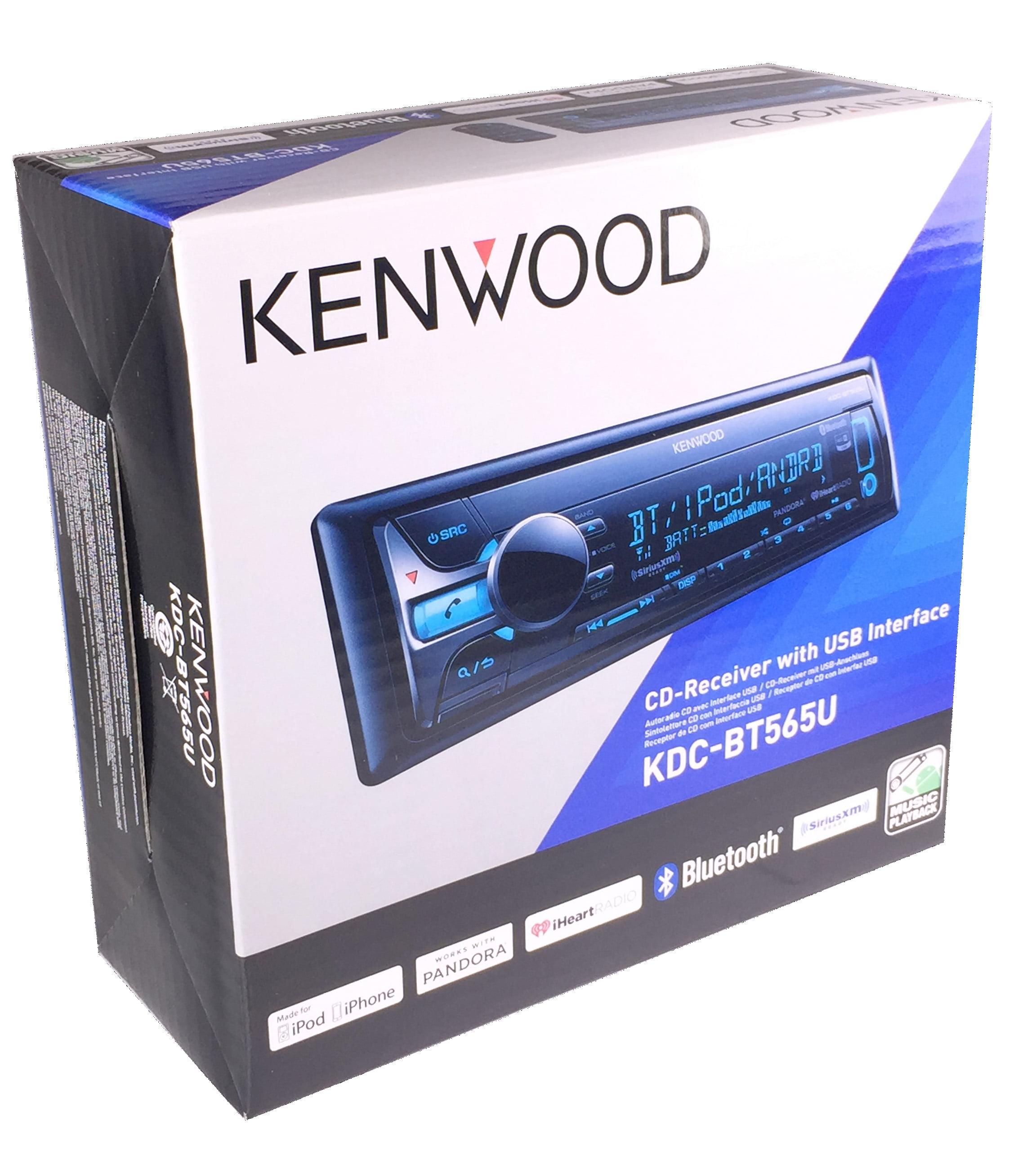 kenwood KDCBT565U CD Single DIN In-Dash Bluetooth Car Stereo Receiver by Kenwood
