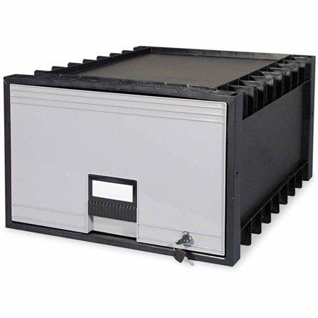 Storex Archive Drawer For Legal Files Storage Box  24  Depth  Black Gray