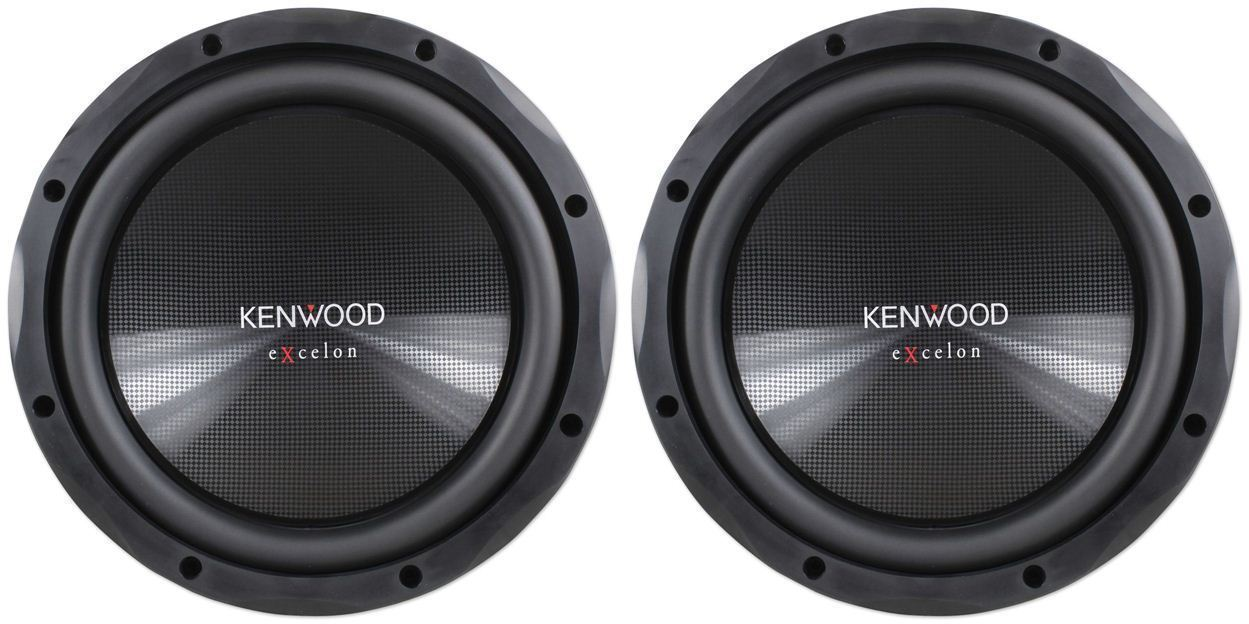 "(2) Kenwood eXcelon KFC-XW12 12"" 2400 Watt Car Audio Subwoofers Subs KFCXW12"