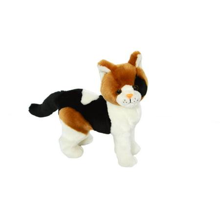 Kingdom Kuddles Plush Calico Cat Pixel- Stuffed Animal (Plush Cat)