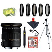 Sigma 17-50mm f/2.8 EX DC OS HSM FLD Large Aperture Zoom Lens with UV, CPL, FLD, ND4,+10 Macro Filters and Bundle for Nikon D4s, D4, D3x, Df, D7100, D7000, D5300, D5200, D5100, D3300, D3200 and D3100