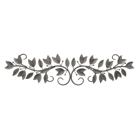 Three Hands 46 in. Metal Scroll Leaves Wall Accent