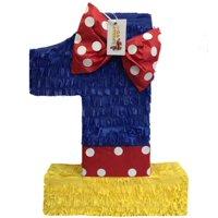 APINATA4U Multi-Color Number One Pinata Princess Theme