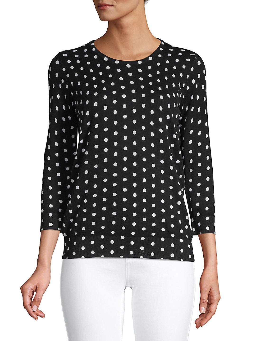 Petite Dotted Pattern Top