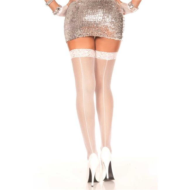 74ea0bd7edda2a Music Legs 4909-RED Backseam   Lace Top Fishnet Thigh High Stockings ...
