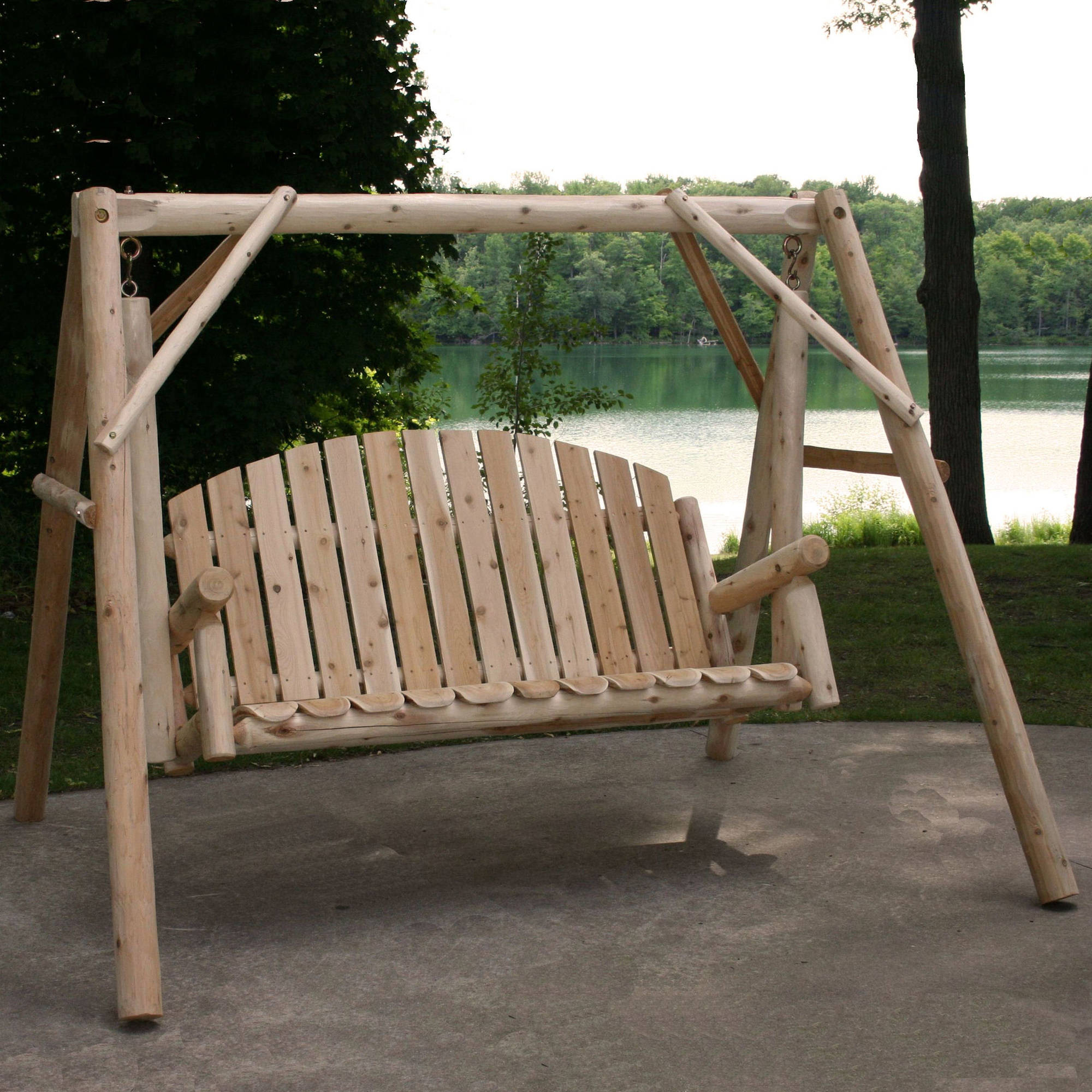Lakeland Mills Country Garden Porch Swing with Stand by Porch Swings