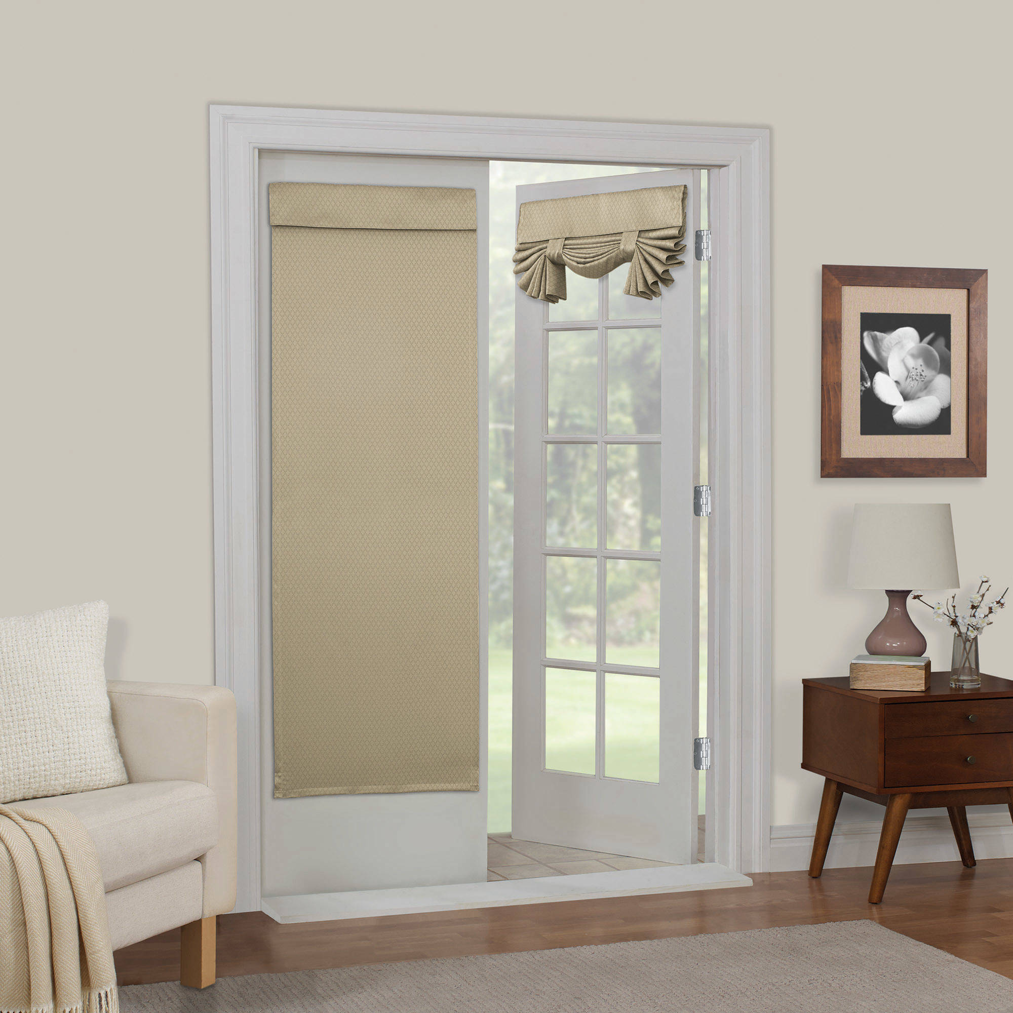 Mainstays Diamond Room Darkening French Door Panel, Multiple Colors