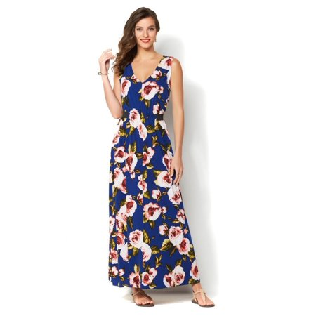 5b4e99f8123 Brand - IMAN Global Chic Luxury Resort Maxi Dress 528-323 - Walmart.com